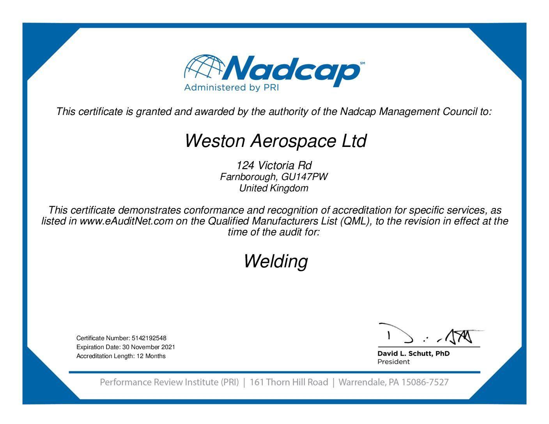 Weston-NADCAP-Welding-Audit-Certificate-192548-pdf